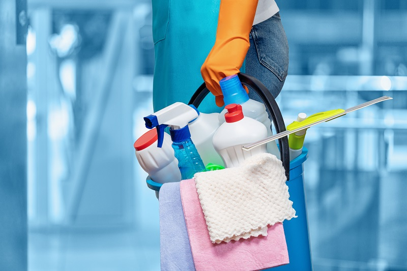 Concept of cleaning the premises and providing home services.